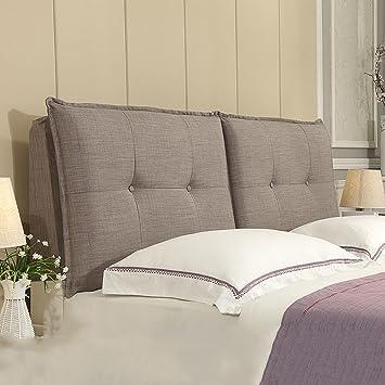 guowei cabecero cojines almohadillas de cabecera dormitorio de respaldo grande cama de madera maciza cama de - Cabeceros Con Cojines