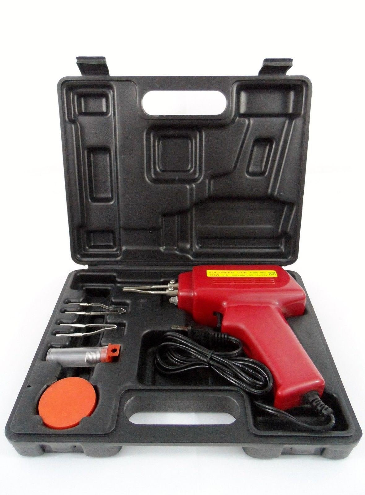 New 5pc 100w Soldering Gun Kit W/case Iron Solder Professional Style Sodering by  (Image #1)