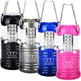 Gold Armour 4Pack LED Lantern Camping Lantern - Camping Equipment Camping Gear Camping Lights for Hiking, Emergency, Hurricanes, Outages, Storms, Camping Lanterns