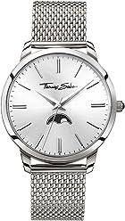 1606cc82fc53 Thomas Sabo Hombre-Reloj para señor Rebel Spirit Moonphase silber Análogo  Cuarzo WA0324-201