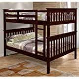Mission Bunkbed with Slat-Kits - Full over Full