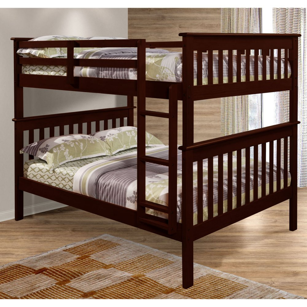 Amazon Mission Bunkbed with Slat Kits Full over Full