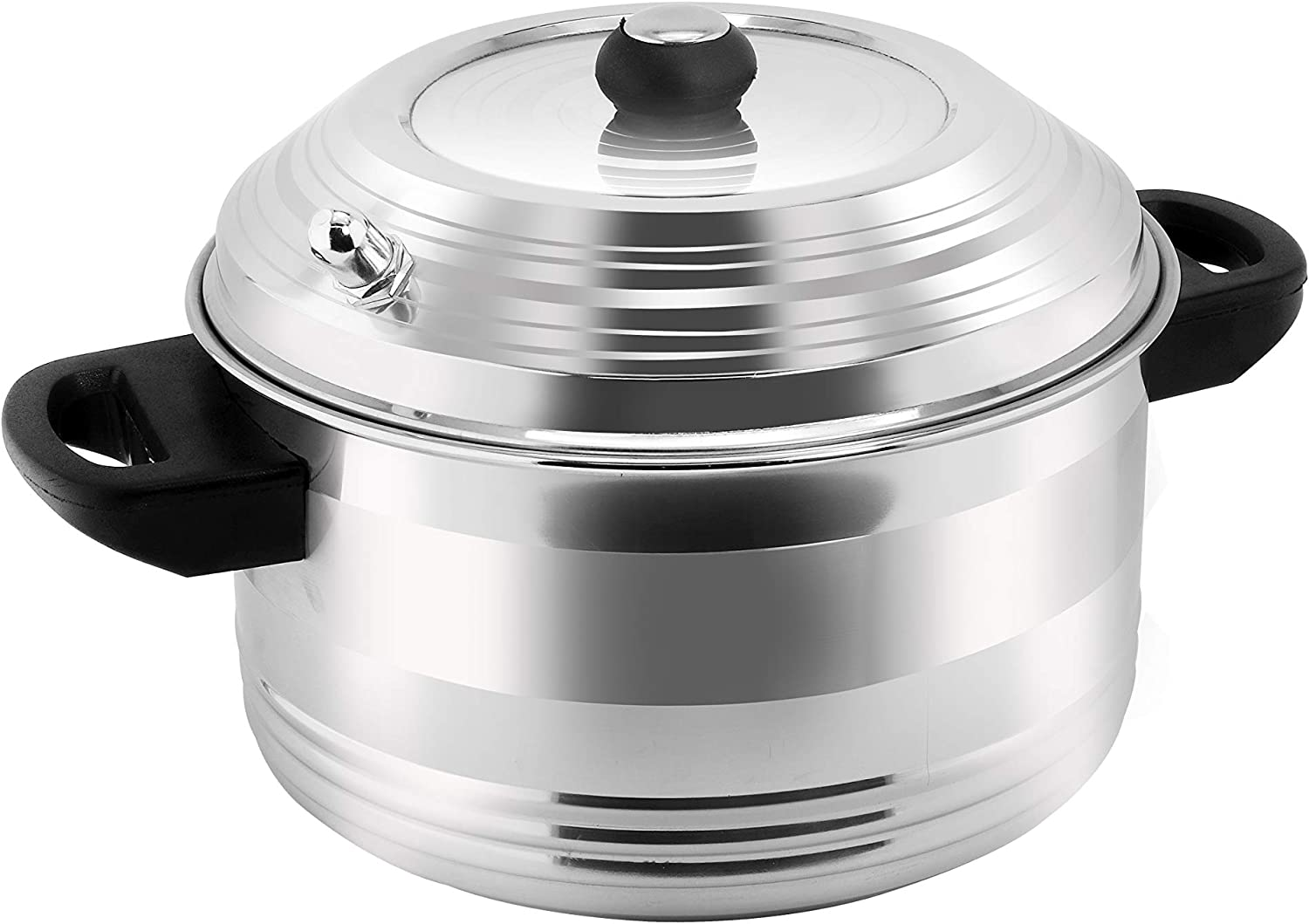 HOMEST Stainless Steel 4-Plates Idly Cooker, Induction & Gas Stove Compatible Idli Maker/Idli Cooker (4-Plates | 16 IDLI)