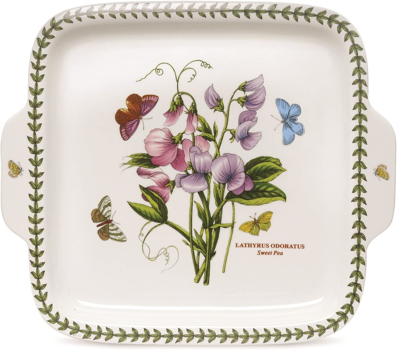 Portmeirion Botanic Garden Square Dessert Dish with Handles