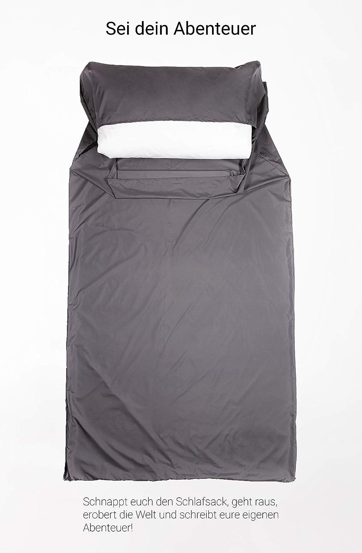 P/ärchenschlafsack leicht und kompakt aufklappbar zur Decke Reiseschlafsack atmungsaktiv verbindbarer Doppelschlafsack extra breit leloo H/üttenschlafsack aus Mikrofaser