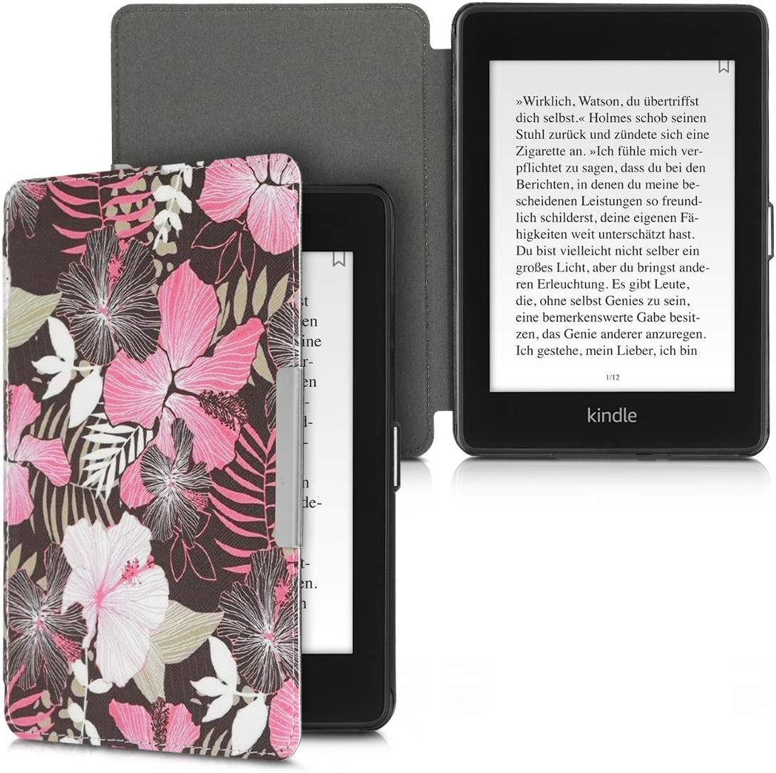 - Book Style PU Leather Protective e-Reader Cover Folio Case Carbon Black//Red kwmobile Case for  Kindle Paperwhite 10. Gen - 2018