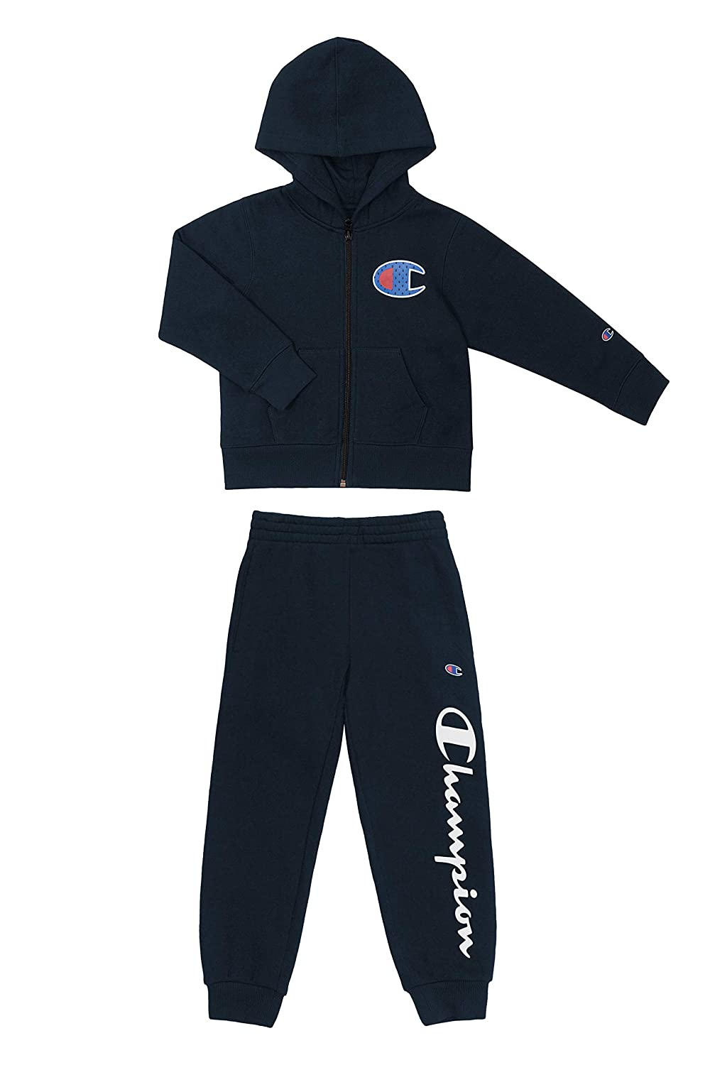 Champion Boys Hertiage 2-7 Two Piece Hooded Fleece Pant Sport Sets