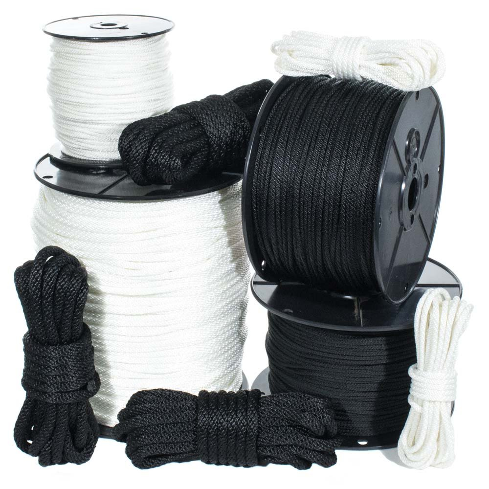 GOLBERG Solid Braid Nylon Rope in 1/8, 5/32, 3/16, 1/4, 5/16, 3/8, and 1/2 Inch Diameters (Several Lengths) by Golberg