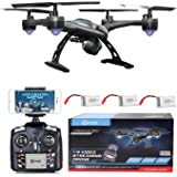 VALENTINES SALE! Contixo F5 WiFi FPV Quadcopter Drone w/ HD Camera, Live Video For Aerial Photography, Altitude Hold, Auto Return, Easy to Fly for Expert Pilots & Beginners! - Best Gift