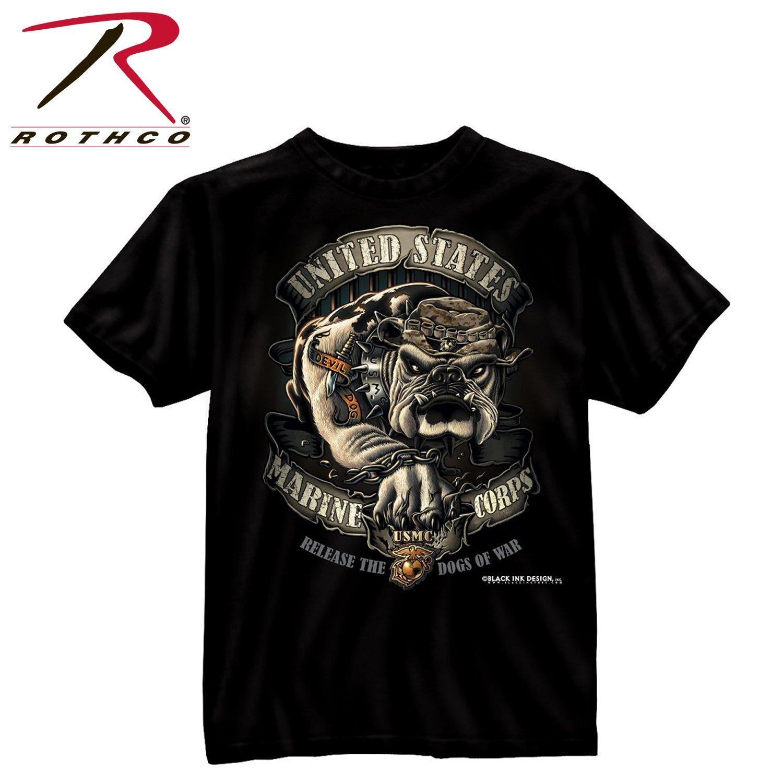 Rothco Bi - Usmc Bulldog T-Shirt, Large