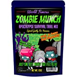 Zombie Munch Apocalypse Survival Trail Mix – Healthy Survivalist Gift Funny Trail Mix Gift Bag Resealable Funny Healthy Gifts Zombie Gifts Gag Gifts for Men Zombie Munch Trail Mix