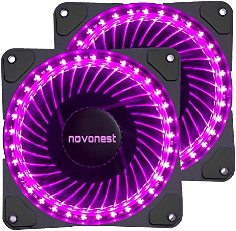 novonest 120 mm morado 32 LED Silencioso ventilador para ordenador ...