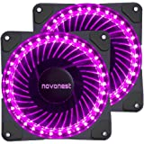 uphere 120mm purple LED Silent Fan for Computer Cases, CPU Coolers, and Radiators Ultra Quiet High Airflow Computer Case Fan, Twin Pack