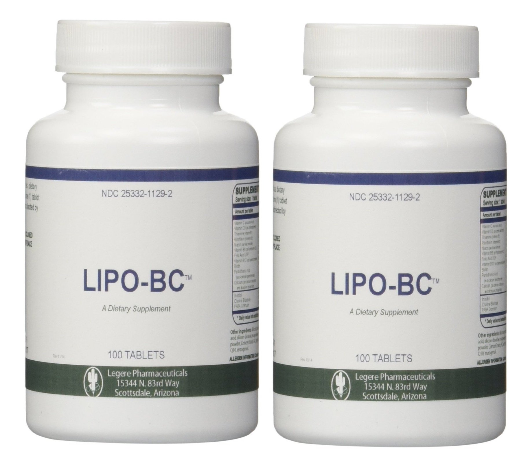 Lipo BC 100 tablets ( 2 Pack) 200 tablets total