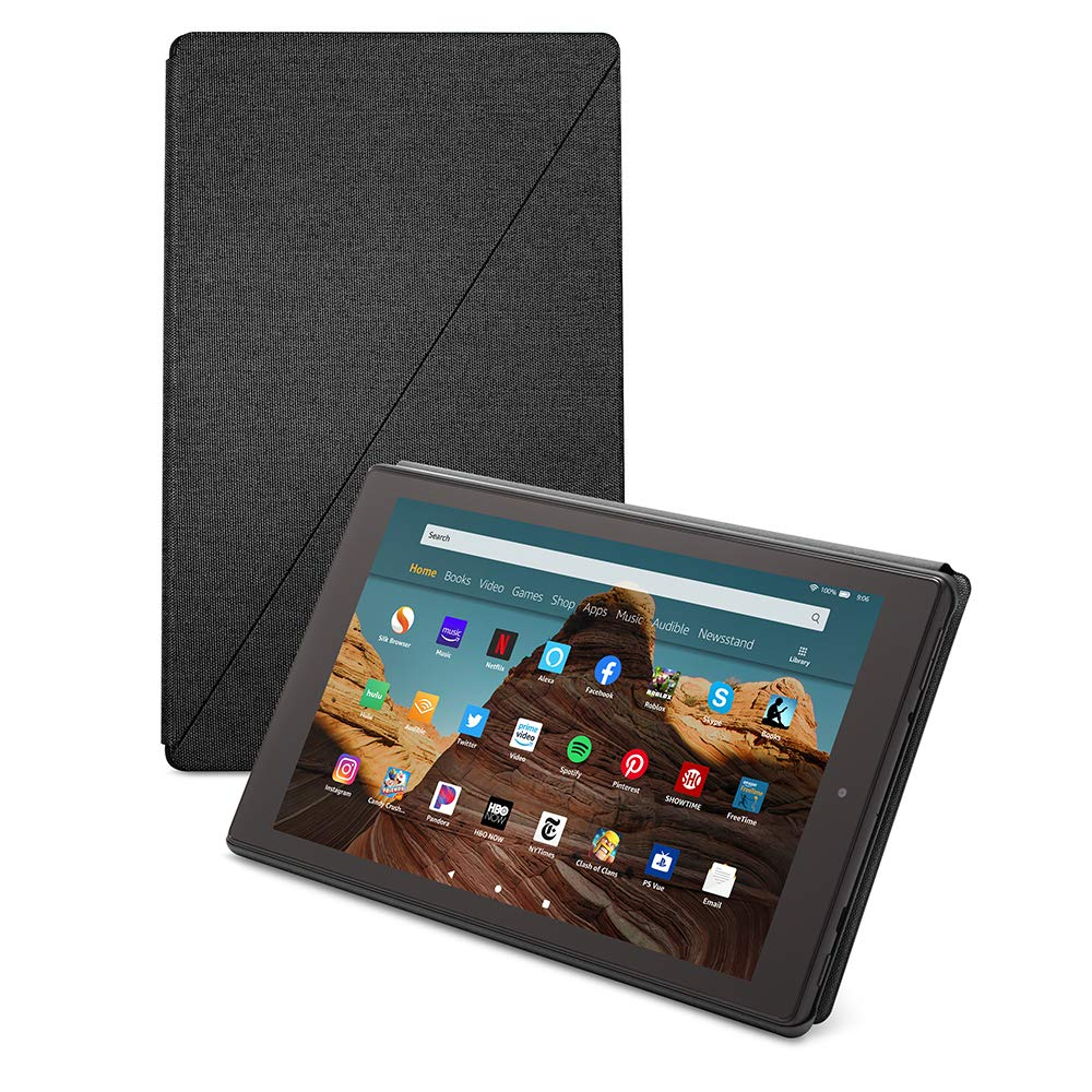 Amazon Fire HD 10 Tablet Case (Compatible with 7th and 9th Generations, 2017 and 2019 Releases), Charcoal Black by Amazon