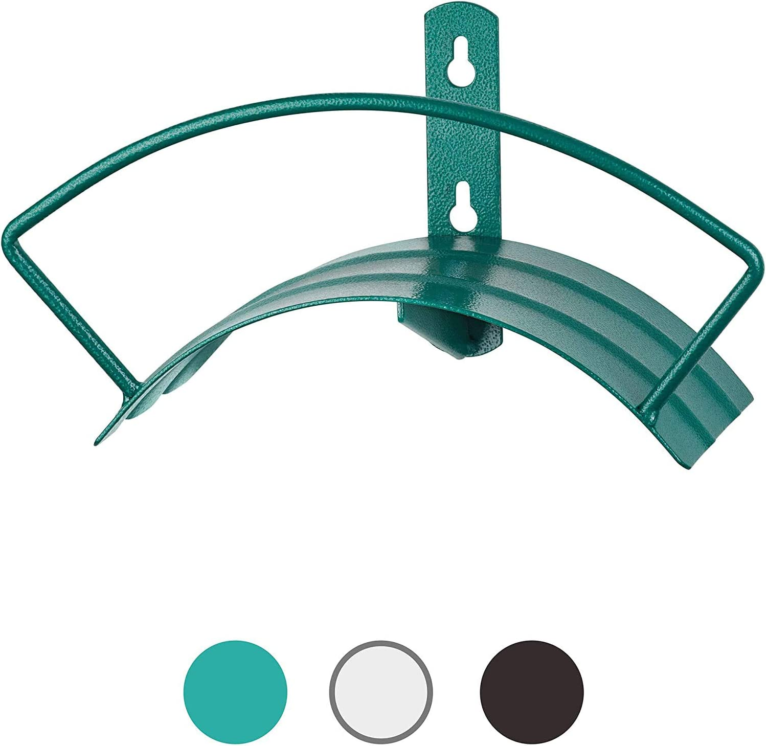 Quality Choices Metal Garden Water Hose Holder – Rust-Resistant Coated Steel Hanger for 150 ft. Standard Wall Mount Garden Hose Rack (Green)
