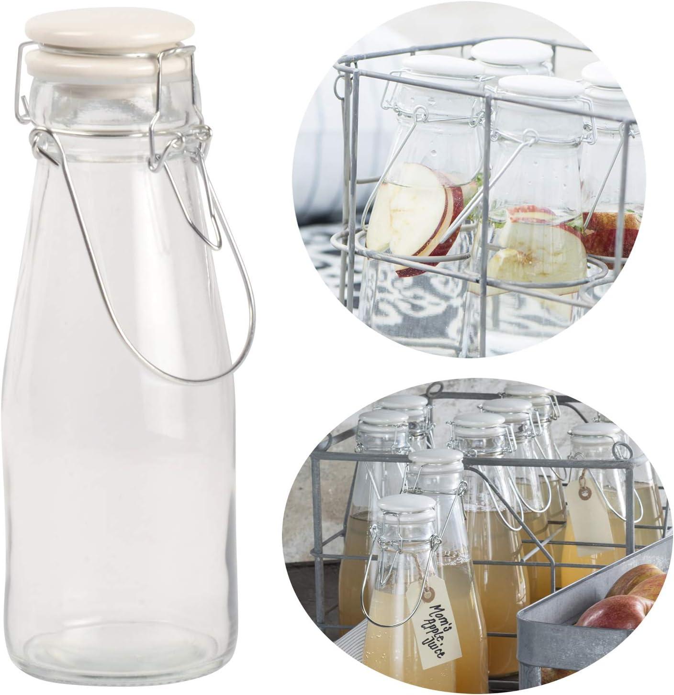 LS-LebenStil Nostalgie - Botella de Agua (500 ml, Cierre de Clip ...