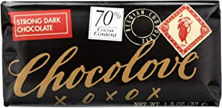 product image for Chocolove Xoxox Premium Chocolate Bar - Dark Chocolate - Strong - Mini - 1.3 oz Bars - Case of 12 - Dairy Free - Wheat Free - Kosher - 70% Cocoa