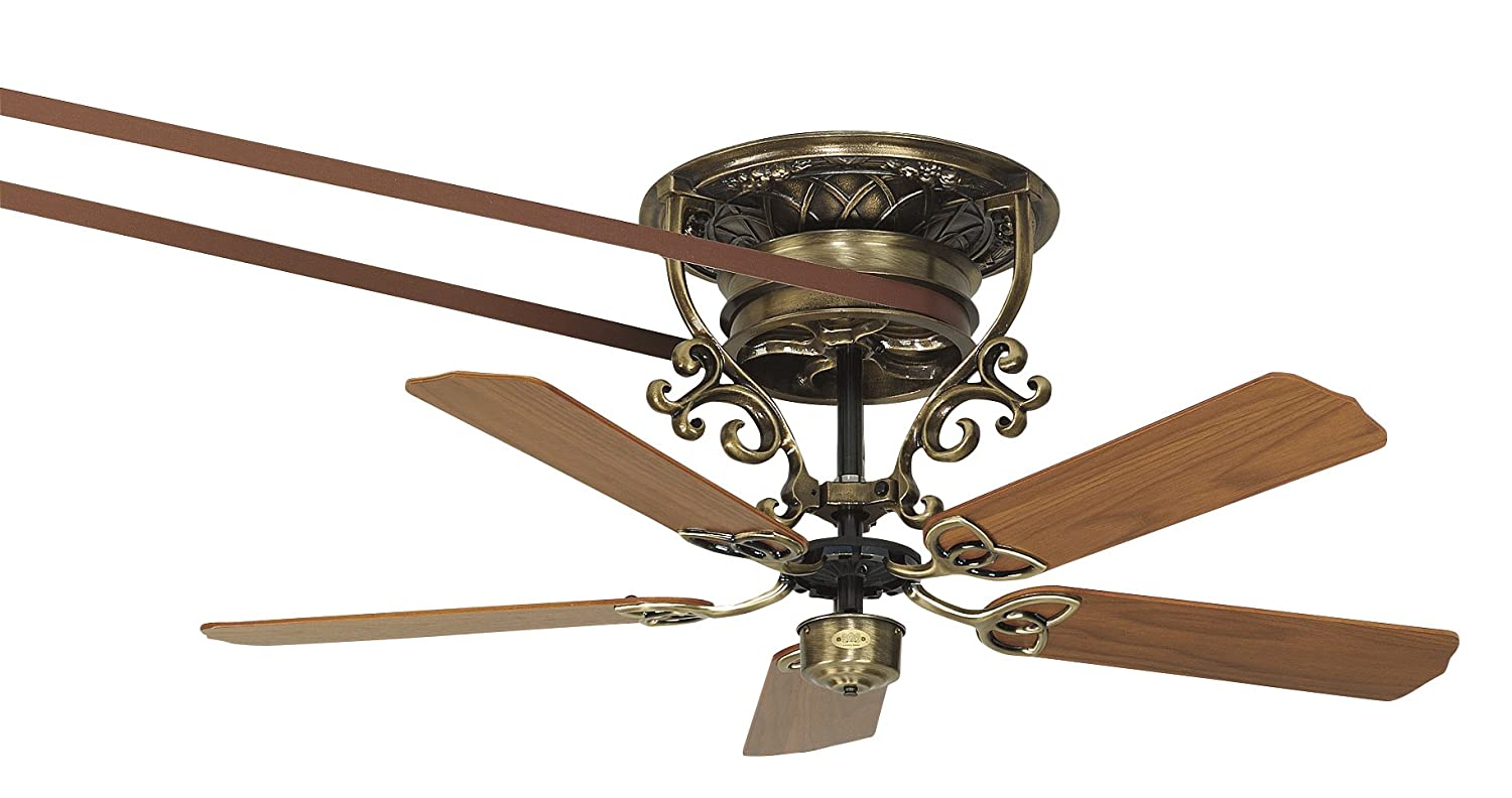 fanimation fp510ab bourbon street short antique brass motor only pulley ceiling fans amazoncom
