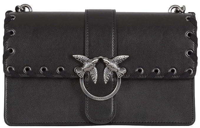 PINKO. BAG Love Laces Black 1P2106Y3XXZ99  Amazon.it  Abbigliamento 5d760ce300e