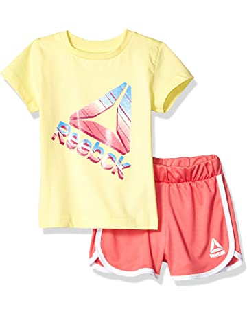 6deecdcca3 Reebok Girls Sleeve Athletic T-Shirt and Pull-on Short Set