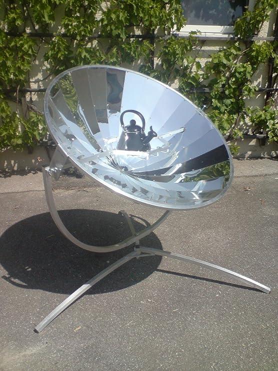 Cocina Solar, solarofen 140 cm - Se envía en Juego con salvamanteles, Premium Calidad con Espejo parabólica - 700 W potencia - Regalo perfecto para medio ...