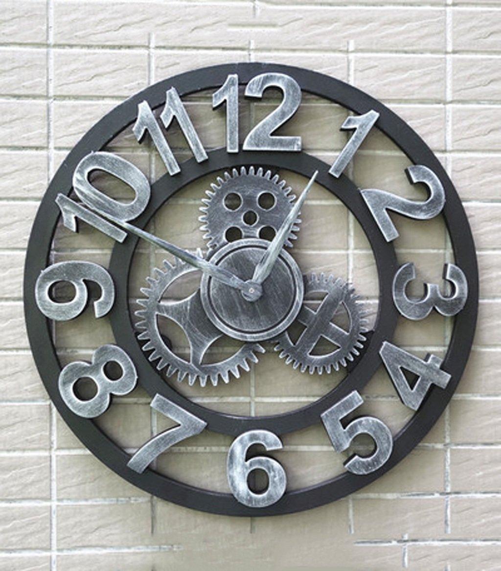 ZHENAI ミュートアメリカのレトロなクリエイティブ時計アートウォールクロック居間装飾個性産業ギアクロック ( 色 : A1 , サイズ さいず : 18 Inches(45cm) ) B07BKYJH5B 18 Inches(45cm)|A1 A1 18 Inches(45cm)