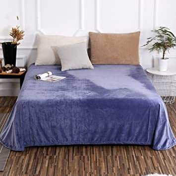 Flannel Sheet Thick Warm Sheets Single Single Bed Sheet Double Bed Sheet C  140x235cm(