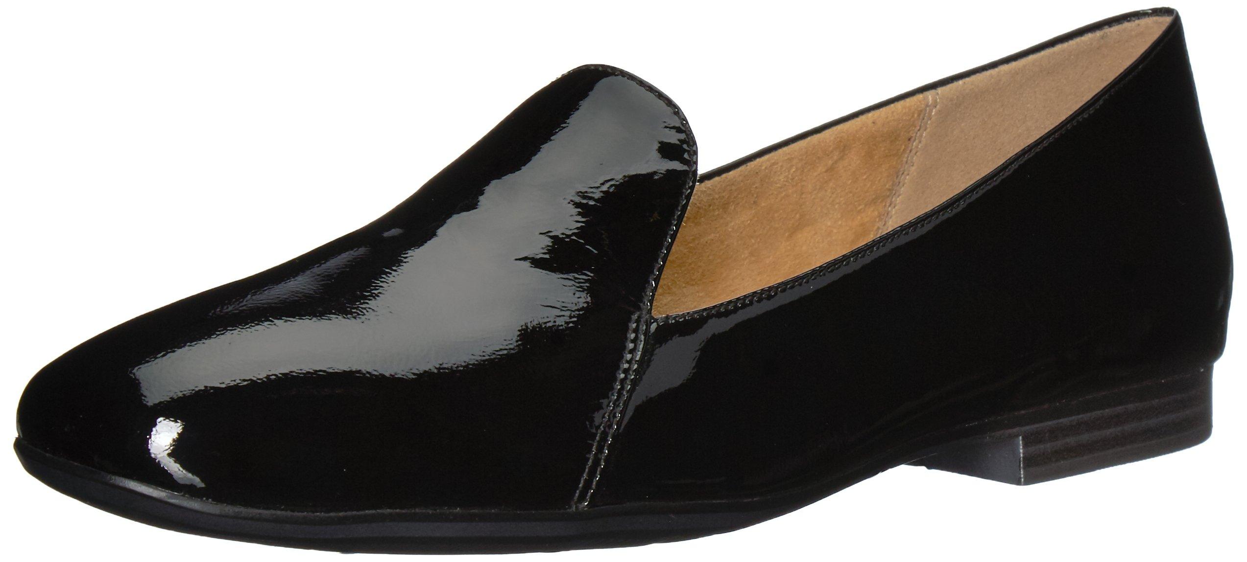 Naturalizer Women's Emiline Loafer Flat, Black Patent, 9 Medium US