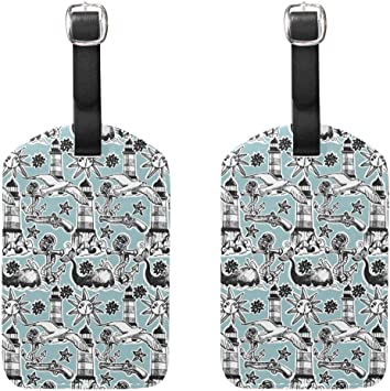 Whales Cruise Luggage Tag For Suitcase Bag Accessories 2 Pack Luggage Tags