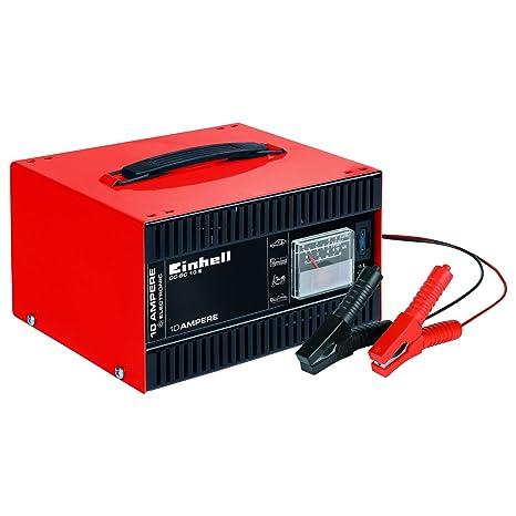 Einhell CC-BC 10 - Cargador Batería, Carcasa Chapa Acero, 12 V