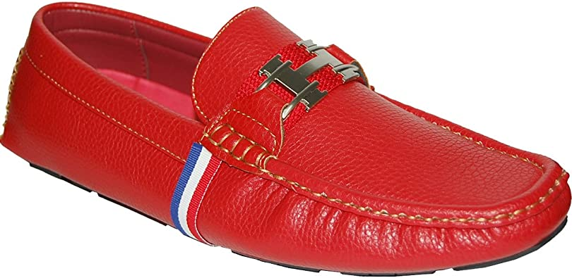 Red Loafers with Red-White-Blue Colors