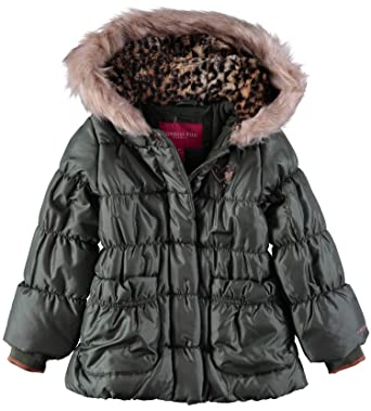673c2ea10 London Fog Little Girl s Quilted Faux-Fur Hooded Winter Jacket ...