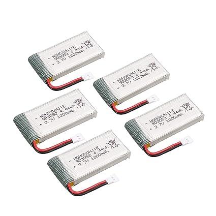 HONZIRY 5 Unids Recargable 4.44wh 3.7 V 1200mAh Lipo Batería + ...