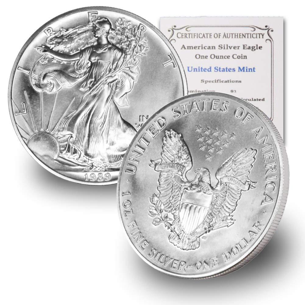 1989 1 oz Silver American Eagle Brilliant Uncirculated