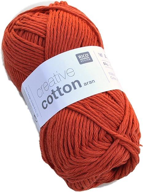 Rico Creative madeja de hilo de algodón arán: Amazon.es: Hogar