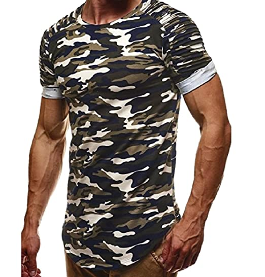 c7990a278 Tootless-Men Sports Outdoor Camouflage Slim Fitted Casual Tunic ...