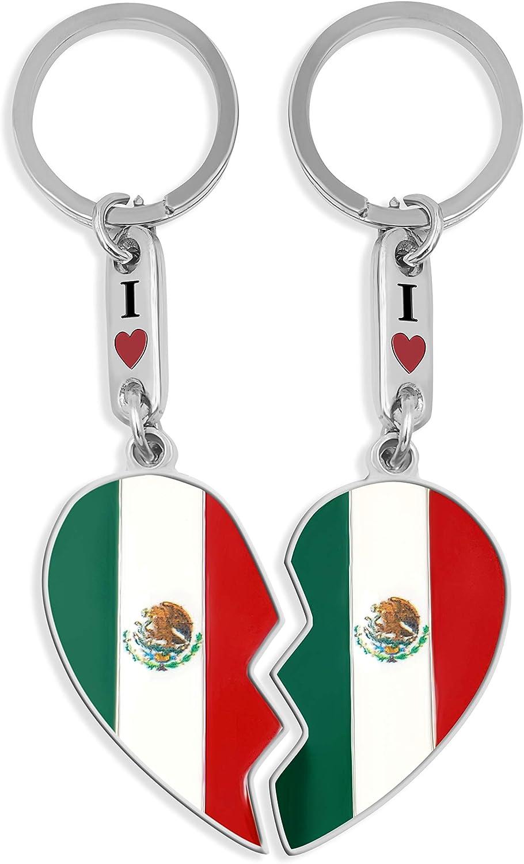flagsandsouvenirs Keychain Mexico Name Colors
