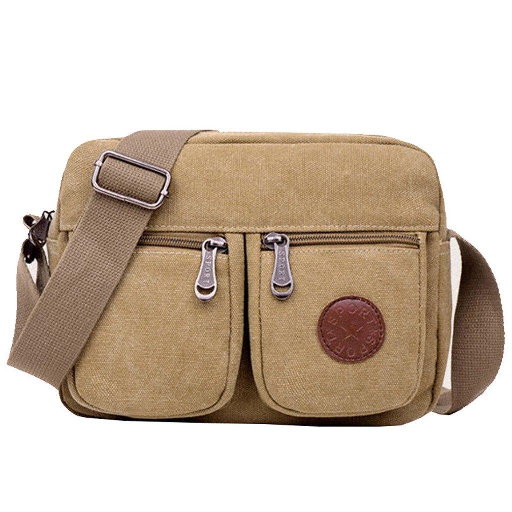 Super Modern Men Small Vintage Canvas Messenger Bag Cross Body Bag Pack Organizer Satchel Bag Durable Multi-Pocket Sling Shoulder Bag 2475899011