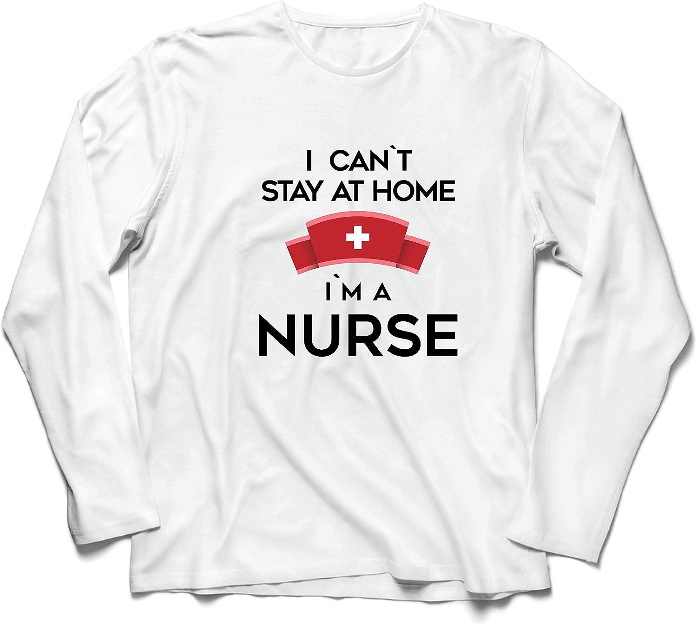lepni.me Camiseta de Manga Larga para Hombre No Puedo quedarme En casa Soy una Enfermera Frontliners Regalo de reconocimiento de Tributo: Amazon.es: Ropa y accesorios
