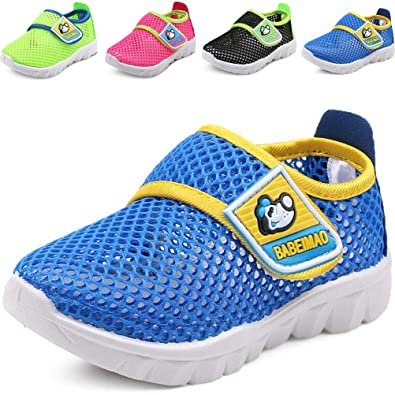8275765c2eae64 DADAWEN Baby s Boy s Girl s Breathable Mesh Running Sneakers Sandals Water  Shoe Blue US Size ...