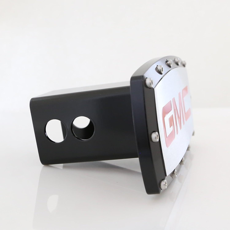 GMC in Red Black Trim Billet Aluminum Tow Hitch Cover 4332984406