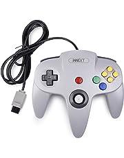 iNNEXT Rétro Manette 64 N64 Contrôleur, manette de jeu Manette filaire pour 64 Console N64,Gris