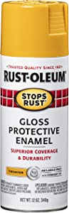 Rust-Oleum 298537-6PK Protective Stops Rust Enamel Spray Paint, 6 Pack, Gloss Tuscan Sun