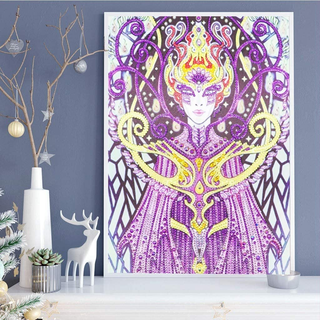 Jeeke Special Shaped Diamond Painting Kits DIY 5D Partial Drill Rhinestone Embroidery Cross Stitch Pictures Arts Craft for Home Wall Decor