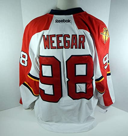 Image Unavailable. Image not available for. Color  2013-14 Florida Panthers  MacKenzie Weegar  98 Game Issued White Jersey - Game Used 84bbb1723