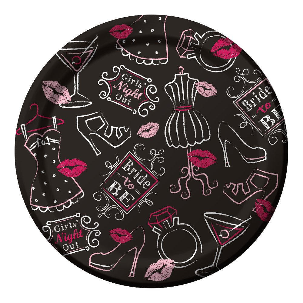 Creative Party Bridal Bash Bride To Be Paper Party Lunch Plates (8 Pack)