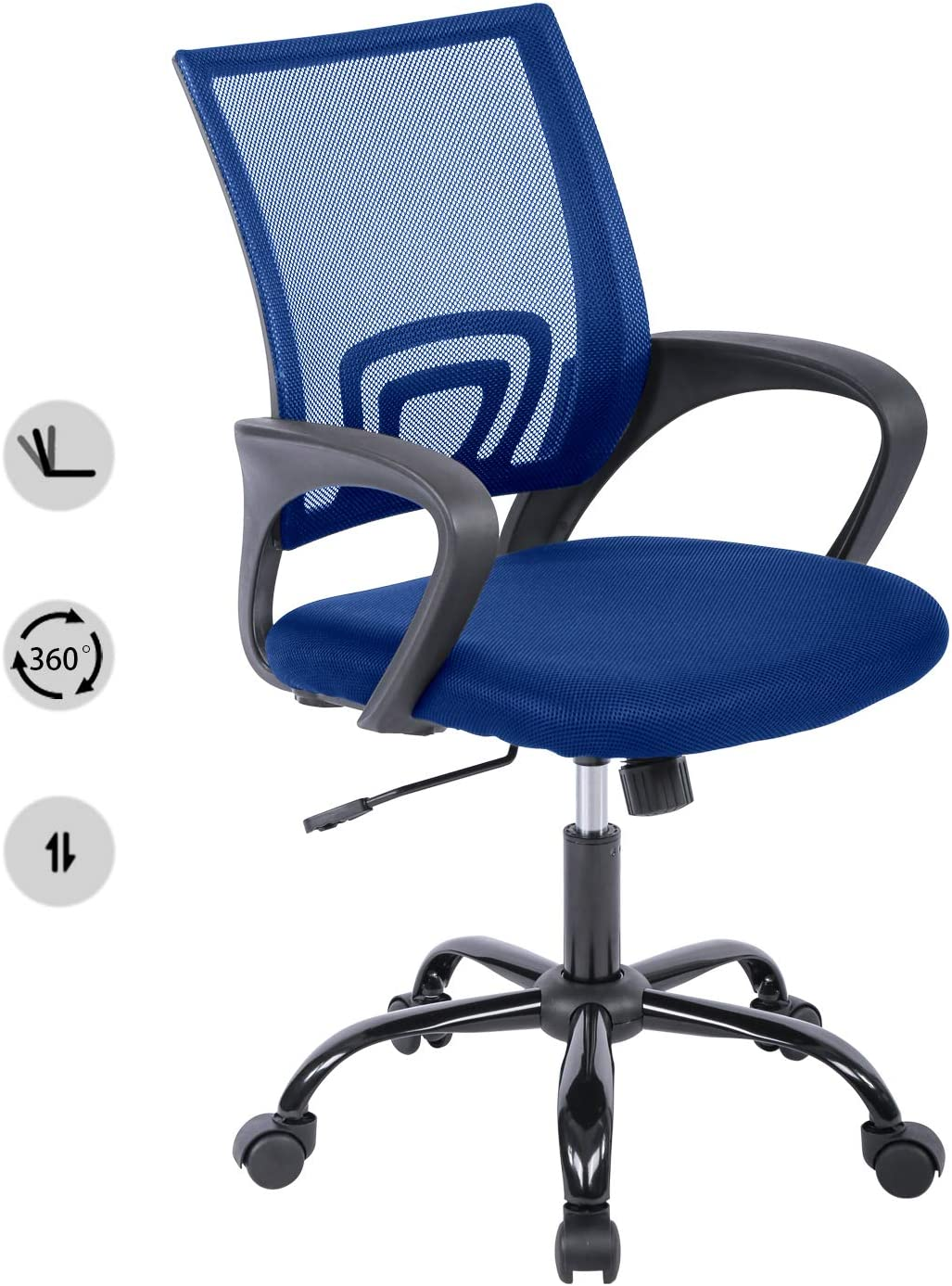 HCB Office Chair, Ergonomic Upgraded Desk Chair, Executive Swivel Computer Chair with Lumbar Support for Home, Office(Blue)