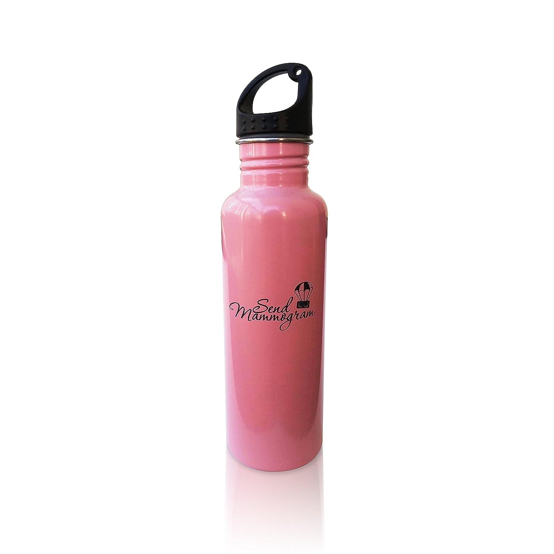 Breast Cancer Awareness Canteen BPA Free Stainless Steel Water Bottle 26oz Pink Mammogram Reminder Sports Bottle