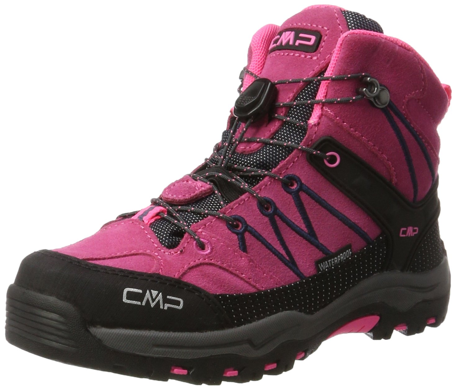 CMP Rigel Mid WP, Zapatos de High Rise Senderismo Unisex Adulto 35 EU|Rosa (Pink Fluo-asphalt)